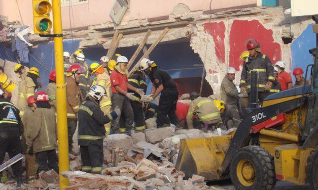 Trágico derrumbe: Hasta el momento dos muertos y dos heridos