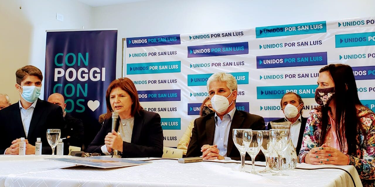 Patricia Bullrich le brindó el apoyo de Juntos x el Cambio a Claudio Poggi