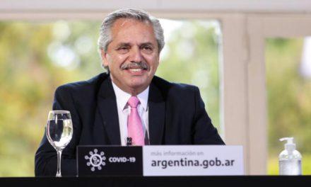 El presidente Alberto Fernández anunció una obra en la Ruta 146 y 147