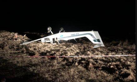 Villa mercedes: Avioneta se despistó durante el aterrizaje