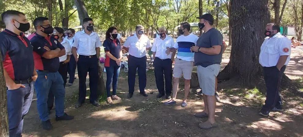 Autoridades de la academia nacional de bomberos visitaron Villa Mercedes y La Florida