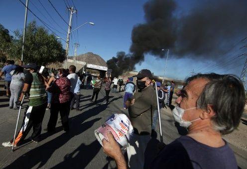 Protestan por falta de alimentos en Santiago de Chile
