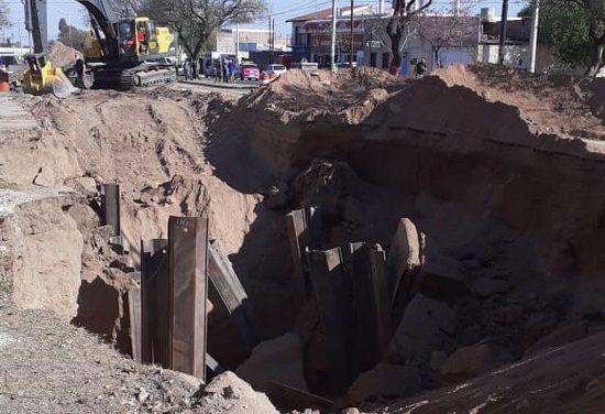 Rescataron a tres obreros tras un derrumbe