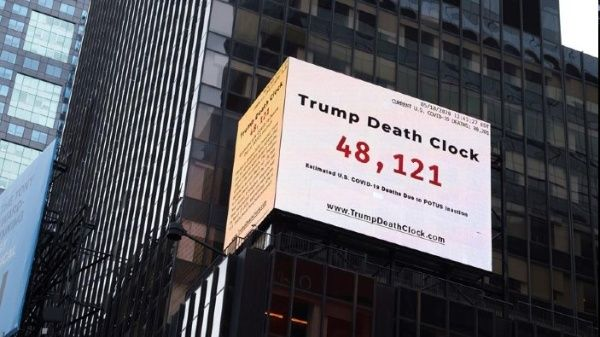«Reloj de la muerte» evidencia gestión de Trump ante Covid-19