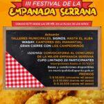 Llega el III Festival de la Empanada Serrana
