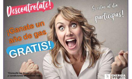 Ganate 12 meses de gas GRATIS en Energía San Luis