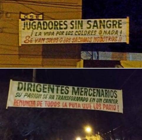 """Estudiantes: """"Dirigentes mercenarios renuncia de todos la p*** que los pario"""""""