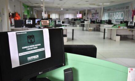 Trabajadores del Diario reclamaron por sueldos dignos