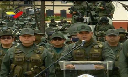 FANB de Venezuela se declara en vigilia permanente contra EE.UU.