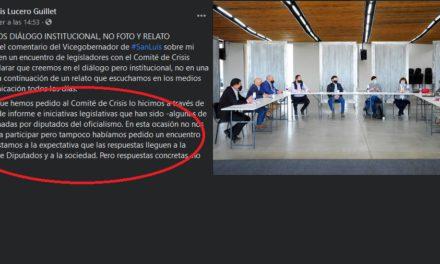 El diputado Guillet si fue invitado a la reunión con el Comité de Crisis, pero no quiso ir