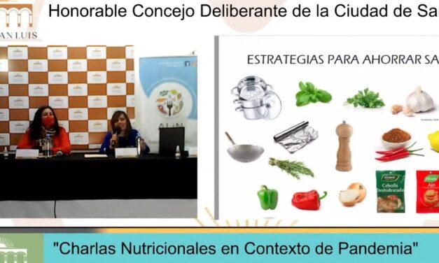 Charlas nutricionales en contexto de pandemia