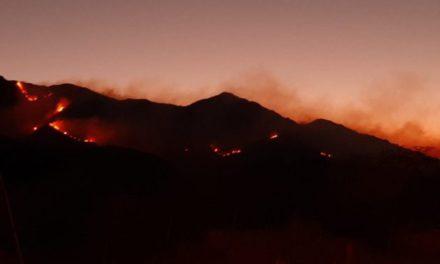 Incendio en Valle del Conlara