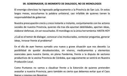 """Todos Unidos: """"Gobernador es momento de diálogo, no de monólogos"""""""