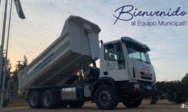 Juana Koslay presentó un nuevo camión