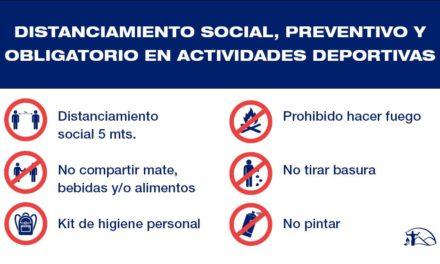 Distanciamiento social, preventivo y obligatorio en actividades deportivas