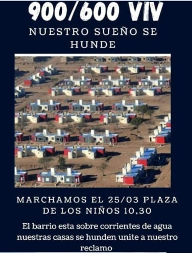 Convocan marcha contra el gobierno por el hundimiento de casas en La Punta