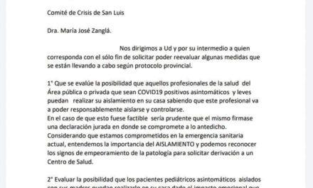 El Círculo Médico pide cuarentena domiciliaria para enfermos de COVID-19