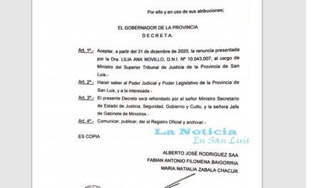 Tal como lo adelantamos se aceptó la renuncia de Novillo desde diciembre
