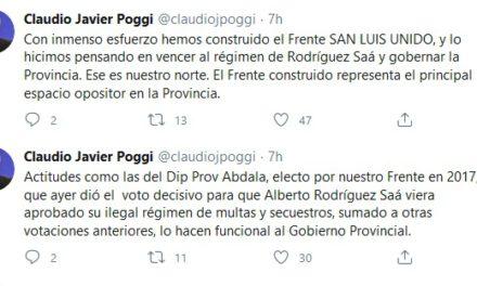 Claudio Poggi apuntó contra Abdala por la votación en diputados