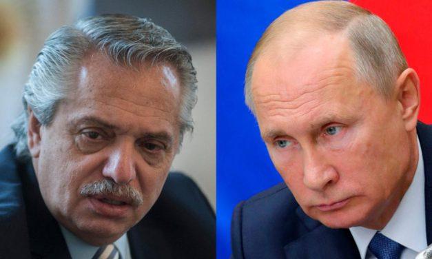 Alberto Fernández felicitó a Vladimir Putin por la vacuna contra el coronavirus