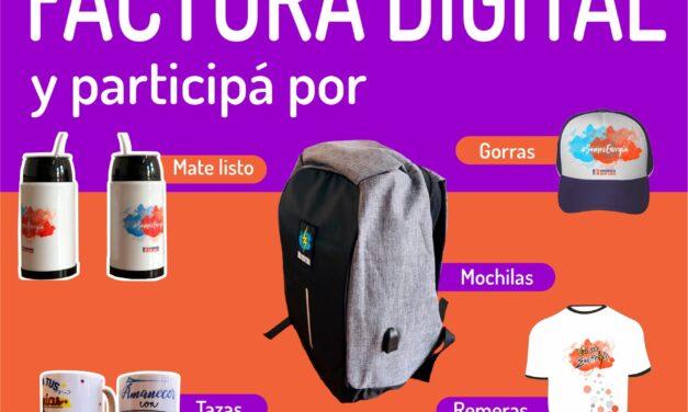 Energía San Luis: Pasarte a la factura digital y ganá muchos premios