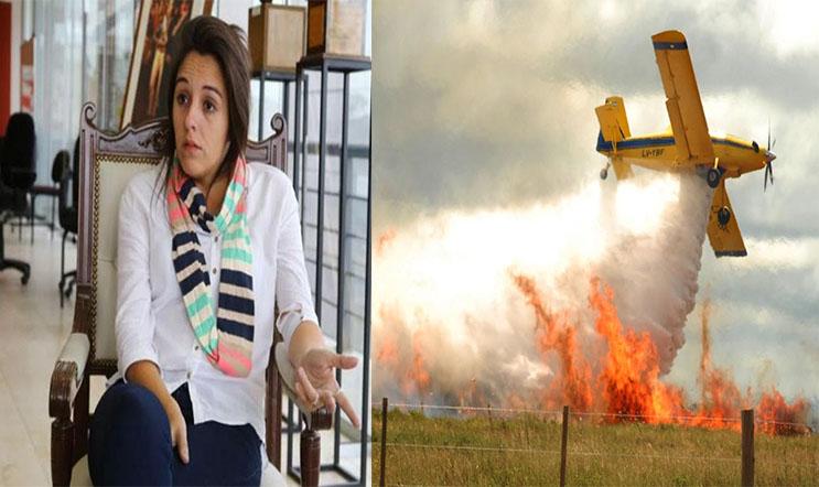 """Natalia Spinuzza: """"No es prioridad del gobierno comprar un avión hidrante"""""""